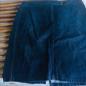The Loft denim skirt